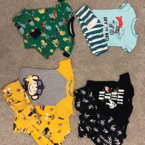 10 piece boys pajama set size 4T